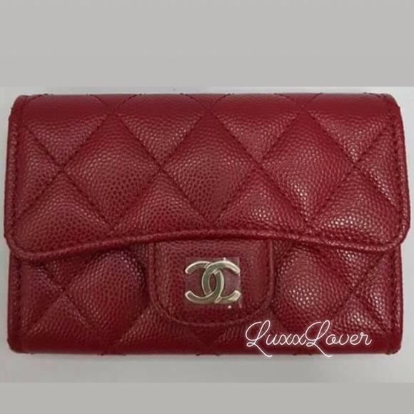 eaa7c5d99c3d5 Authentic BNIB 17B Chanel red card case. NWT